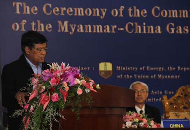 China Begins Receiving Natural Gas from Shwe Pipeline