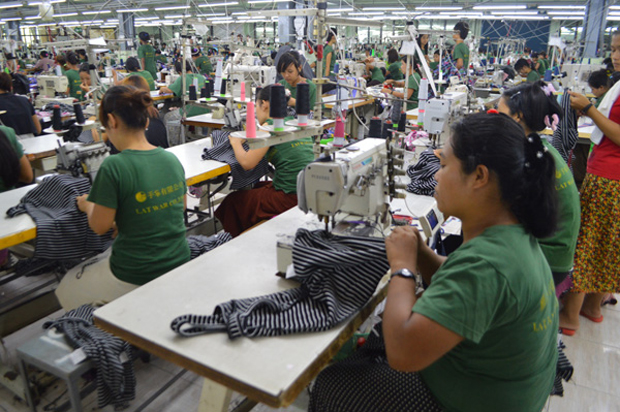 MYANMAR�S GARMENT INDUSTRY RECEIVES GROWING FOREIGN INVESTMENT