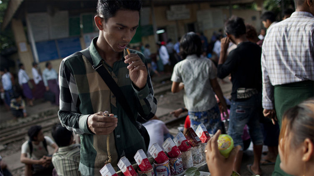 TOBACCO BRANDS SLIP INTO MYANMAR WITHOUT FANFARE