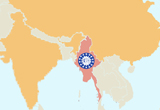 Strategic location of Myanmar (Burma) right between China and India - Invest Myanmar.biz