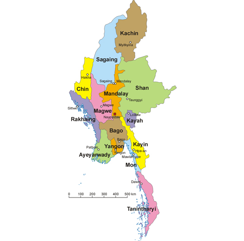 General administrative division of Myanmar (Burma)