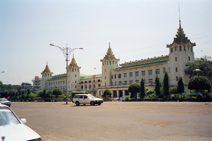 Yangon central railroad station