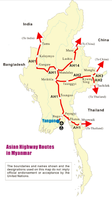 Asian Highway Routes, via United Nations ESCAP